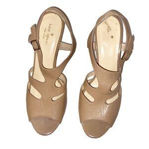 Kate Spade Nude Wave Cutout Sandal Heels 8